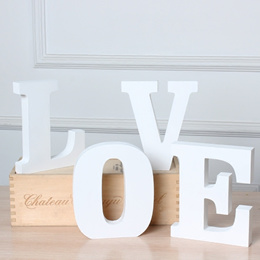 DIY creative decoration decorative bars cafes furniture white wooden letters wedding shoot props