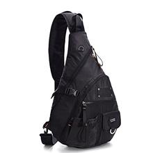 """D-Tasks LINSHI TASKS 15"""" Tactical Sling Backpack Book Bag for Men Women Black"""