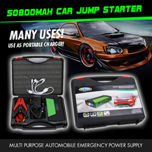 50800mAh Multi-Function Car battery Jump Starter PowerBank Portable Charger for Laptop/phone/ipad