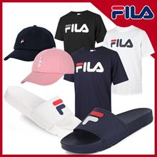[100% Authentic] FILA LINEAR TEE(FS2RSA2001X) / LOGO CAP(FS2RSA2002X) / F SLIDE(FS1SLA2051X)