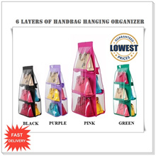 *LAUNCHING OFFER*6 Pocket Shelf Bags Purse Handbags Hanging Organizer Storage*LOCAL SELLER*FAST SHIPPING*