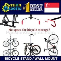 Bike Hanger Dual Bicycle Tower Rack Stand/ Bike Stand / Wall mount/Trainer Premium Aluminum Single