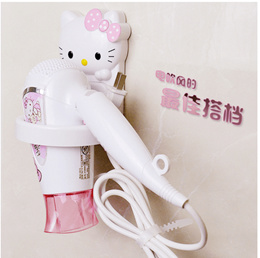 Cute cartoon hello kitty hair dryer rack