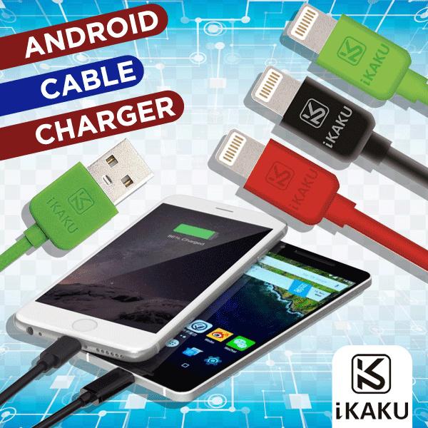 IKAKU Kabel Data Charger Android Micro USB 1M - Whirlwind series