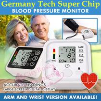 Digital Upper Arm Wrist Blood Pressure Pulse Sphygmomanometer LCD Screen Heart Beat Pulse Monitor