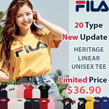 [FILA] ♥Only This Week $36.90♥ 20Type Unisex Linear Logo Short Sleeve T Shirt / 100% Authentic