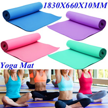 1cm Thick Yoga Mat Pad Non-Slip Lose Weight Exercise Fitness Indoor Multicolor