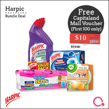 [RB]【FREE $10 Capitaland voucher】Harpic cleaning bundle for your home! Total 9 items!