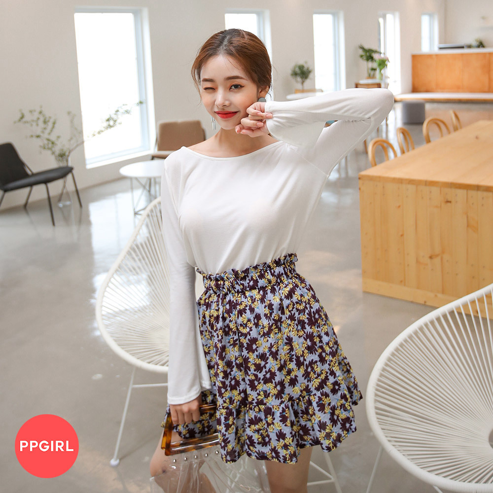 [PPGIRL官方旗艦店] 甜蜜迷你裙套裝(T恤+迷你裙) C477