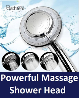 Korea Powerful High Water Pressure Shower head For Bath/ Powerful water stream/Modern design/massage