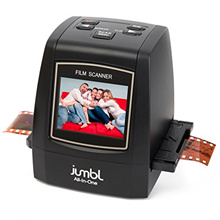 Jumbl 22MP All-In-1 Film  Slide Scanner w/ Speed-Load Adapters for 35mm Negative  Slides, 110, 126