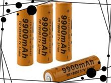 High Capacity 18650 3.7V 9900mAh Rechargeable Li-ion Battery for LED Flashlight 2pcs/set