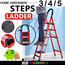 ★Foldable Ladder★ 【 Compact and Light Ladder 】 Foldable Large Board Ladder 3/4/5 Step Ladder Step