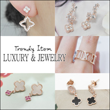 [Laurenco] 💕New Update💕 Trendy Luxurious Korean Style Earrings / Ring / Bracelet - Trendy Latest Design