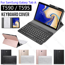 samsung galaxy tab A 10.5 inch T590 T595 bluetooth keyboard cover smart stand flip case cover casing