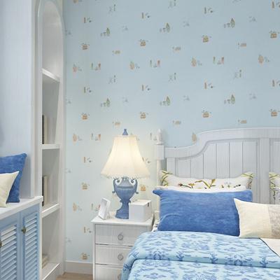 Light Green Cartoon Wallpaper For Kids Room Baby Bedroom Pink Color Children S Wallpape