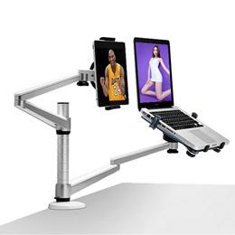 회전식 랩 데스크 LCD 모니터 홀더 + 노트북 홀더 스탠드 노트북 및 25 인치 이내 LCD 디스플레이