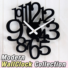 ★MADE IN KOREA-Modern WallClock Collection 3 colors★ gift watch home design deco wedding marriage wall clock simple