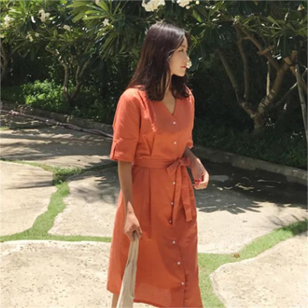 くらくらワンピースnew 無地ワンピース/ワンピース/韓国ファッション