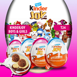 KINDER JOY T24 - HEALTHY SNACKS AND FUN FOR CHILDREN (24X20GRAM)FOR BOYS AND GIRLS EDITION