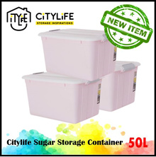 Bundle Set of 3 - Citylife Sugar Storage Container 18L / 50L * Beautiful Colors Storage Box