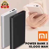 Original Xiaomi Mi Pro 10000mAh USB Power Bank 2 Ultra-Slim Fast Charging - ORIGINAL 100%