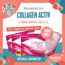 [3MTH SUPPLY] Collagen Activ Powder 30sx3 *TRAVEL FRIENDLY* Mix w Anything (Drinks/Food)