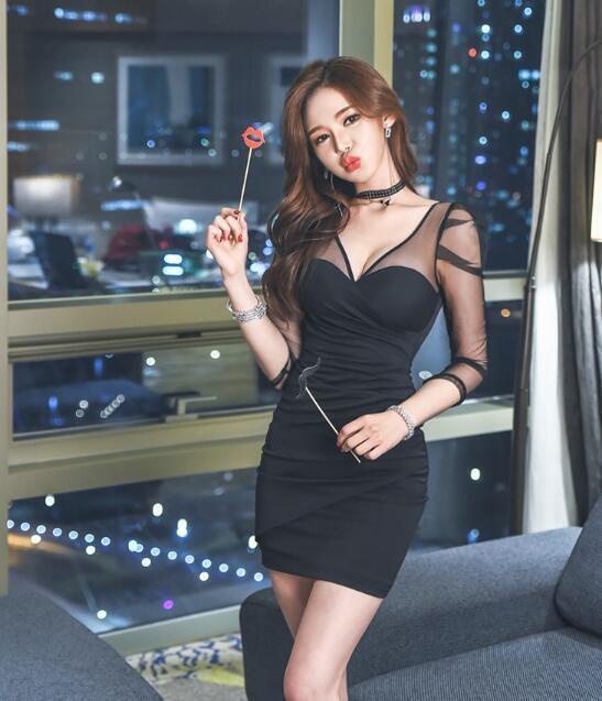 [55555SHOP]♥韓国ファッション♥OL、正式な場合、礼装ドレス♥セクシーなワンピース、一字肩♥二点セット、側開、深いVネック♥やせて見える、ハイウエスト