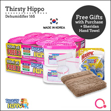 [RB]【16 units + FREE gifts!】Thirsty Hippo Dehumidifier 600ml | Stocks distributed from Singapore