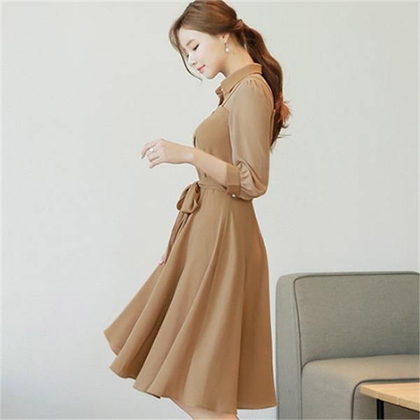 シークラインXLまでマリドゥOPSCLHCO60new 無地ワンピース/ワンピース/韓国ファッション