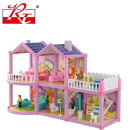 Barbie doll house DIY hand-assembled the House Villa 3-5-6 years old girl Toys Gifts