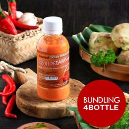 ( Bunding 4 Botol ) Product Of Indonesia_Sambal Khas Makasar Pedas 220gr
