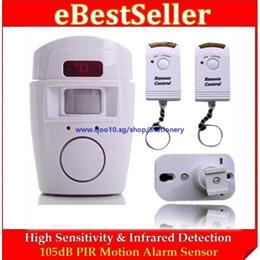 High Sensitivity Infrared PIR Motion Alarm Sensor + 2 Remote Control