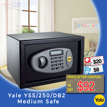 Yale Safe YSS/250/DB2 Medium (Black) 8kg Dimension H250 x W350 x D250mm
