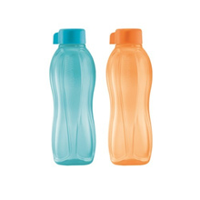 Tupperware Eco Bottle (2) 500ML Red/Green/Orange/Blue