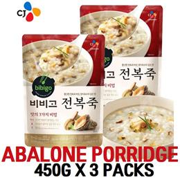 비비고 전복죽/Korean Food Abalone porridge 450g x 3 packs/Kimchi/beef Rice/Healthy Breakfast/Baby /Lunch