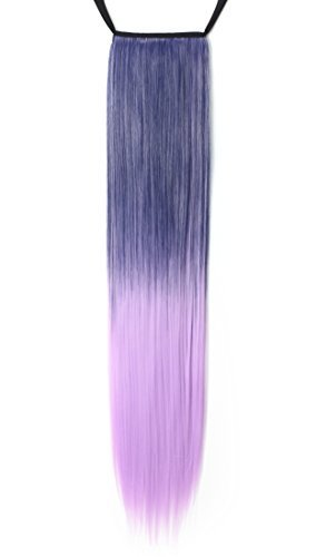 b6088bd630ce1 Onedor Straight Wrap Around Ponytail Extension for Woman S ..