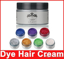 Unisex DIY Hair Color Wax Mud Dye Cream Temporary Modeling Red,White,Blue 7 Colors Available