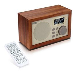 Britz Soundroom Bluetooth Speaker BA-C1 2.8x0.3x6.1 inch Full Range Unit Base Reflex System Clock