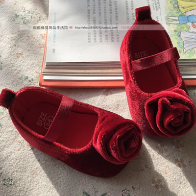 b32436a5ac4 Baby shoes 1 year old baby soft bottom school step Shoes 6 red one hundred  days