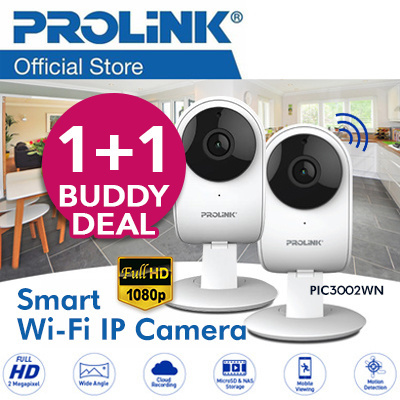 Buddy deal! PROLiNK PIC3002WN Full HD 1080P Smart Wi-Fi IP Camera/ Night Vision / 2 way audio Deals for only RM364.3 instead of RM486