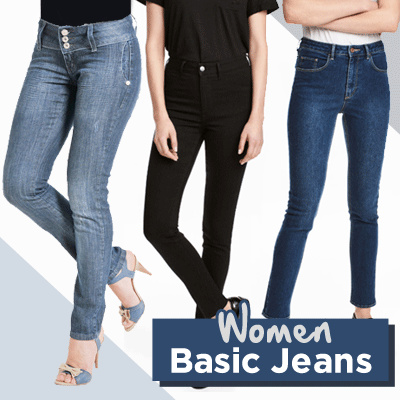 JEANS WOMAN GOOD QUALITY Celana Jeans Wanita Basic / Woman Basic Jeans / Deals for only S$24.99 instead of S$0