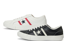 (A warehouse) 【CONVERSE】 STAR & BARS LEATHER Converse star & bird's leather low cut men's sneakers women's sneakers