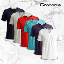 ★CROCODILE OFFICIAL STORE★ MENS HENLEY TEE T-SHIRT REGULAR FIT