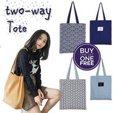 💜Free gift💜Best Reversible tote bag / canvas shoulder bag / weekend handbag christmas gift