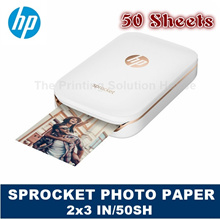 [Original] HP 1RF42A ZINK STICKY-BACKED PHOTO PAPER SPROCKET 2x3 IN 50 sheets / 100 sheets