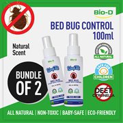 [Bundle of 2 x100ml - Natural] Bio-D SleepTite Bed Bug and Dust Mite Control Travel Spray