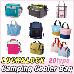 ★[Lock n Lock] Camping Cooler Bag★Cool / warm / thermal / Kitchen / travel / pouch Portable ice box