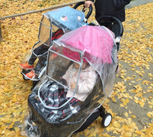 [Honey shop] ◆ Yoyoya stroller rain cover ◆ Waterproof is basic / securing to baby's sight / windshield cover combination