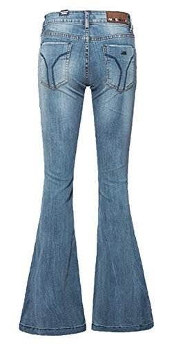 6f7f8e15cc8d39 (AvaCostume) AvaCostume Women s Mid-Rise Bell-bottom Wide Leg Flare Jeans